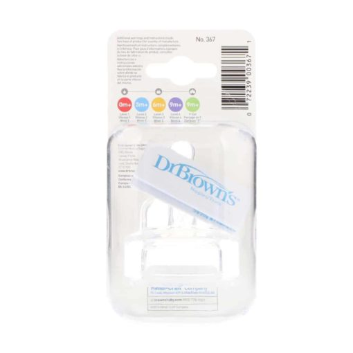 Buy Dr. Brown's Original Narrow-Neck Nipple, Level 4 (9m+), Pack of 2 online with Free Shipping at Baby Amore India, Babyamore.in