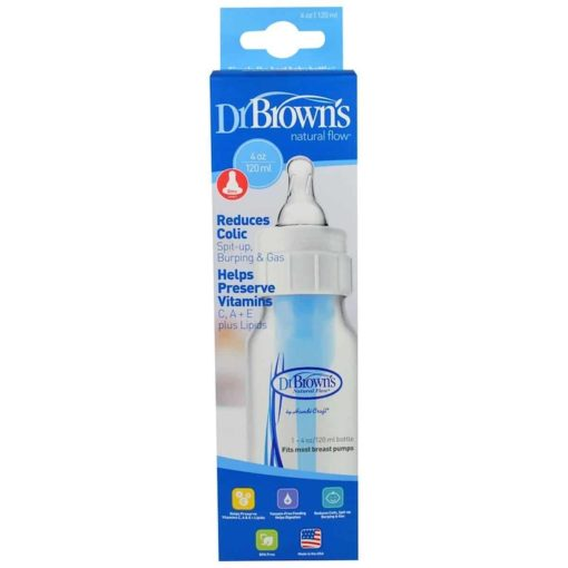 Buy Dr. Brown's, Natural Flow Bottle, 0+ Months, 120ml online with Free Shipping at Baby Amore India, Babyamore.in