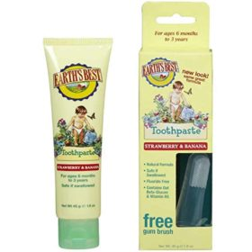 Buy Earth's Best Toothpaste Strawberry & Banana, 45g online with Free Shipping at Baby Amore India, Babyamore.in