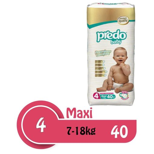 Buy Predo Baby Maxi Advantage 7-18kg, Size 4, 40 pieces online with Free Shipping at Baby Amore India, Babyamore.in