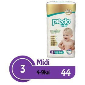Buy Predo Baby Midi Advantage 4-9kg, Size 3, 44 pieces online with Free Shipping at Baby Amore India, Babyamore.in