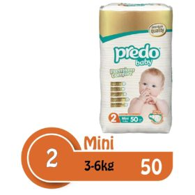 Buy Predo Baby Mini Advantage 3-6kg, Size 2, 50 Pieces online with Free Shipping at Baby Amore India, Babyamore.in