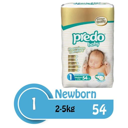 Buy Predo Baby New Born Advantage 2-5kg, Size 1, 54 pieces online with Free Shipping at Baby Amore India, Babyamore.in