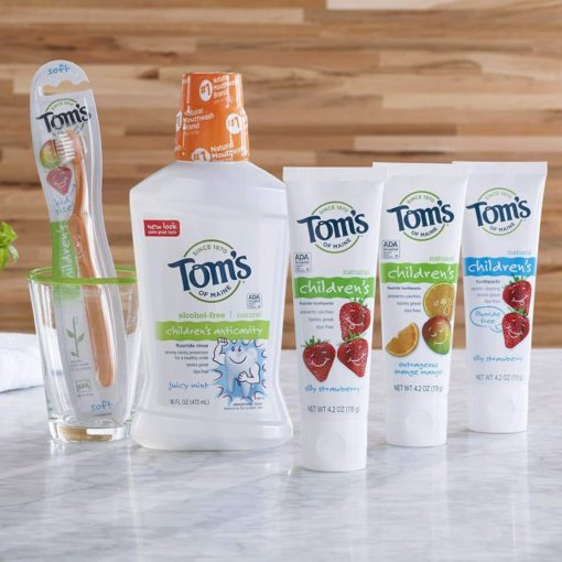 Buy Tom's of Maine, Children's Anticavity Fluoride Toothpaste, Silly Strawberry, 144g online with Free Shipping at Baby Amore India, Babyamore.in