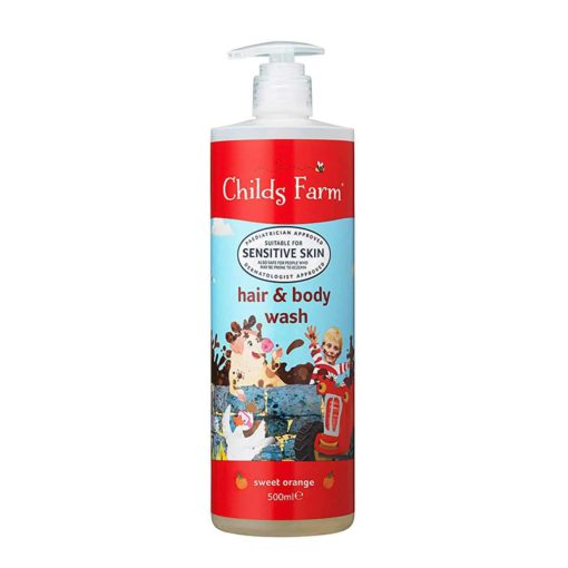Buy Childs Farm Hair & Body Wash Organic Sweet Orange, 500ml online with Free Shipping at Baby Amore India, Babyamore.in