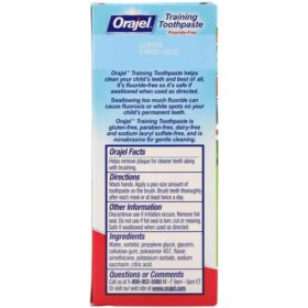 Buy Orajel Training Toothpaste Berry Fun, Fluoride Free, 42.5g online with Free Shipping at Baby Amore India, Babyamore.in
