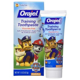 Buy Orajel Training Toothpaste Fruity Fun, Fluoride Free, 42.5g online with Free Shipping at Baby Amore India, Babyamore.in