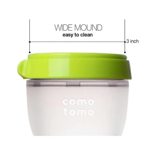 Buy Comotomo Natural Feel Baby Bottle, Green, 250 ml online with Free Shipping at Baby Amore India, Babyamore.in
