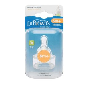 Buy Dr. Brown's Original Narrow-Neck Nipple, Level 3 (6m+), Pack of 2 online with Free Shipping at Baby Amore India, Babyamore.in