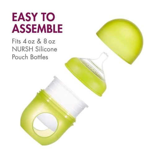 Buy NURSH Silicone Pouch Bottle, Pink, 4oz online with Free Shipping at Baby Amore India, Babyamore.in