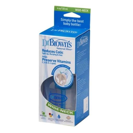 Buy Dr. Brown's, Natural Flow Bottle, Wide Neck, 120 ml online with Free Shipping at Baby Amore India, Babyamore.in