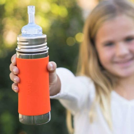 Buy Pura Kiki Straw Bottle with Sleeve - 11oz online with Free Shipping at Baby Amore India, Babyamore.in