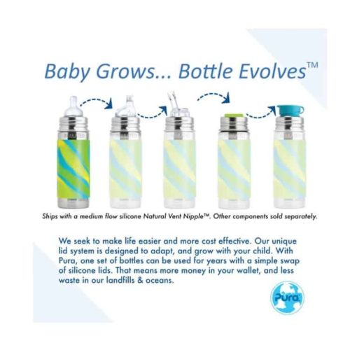 Buy Pura Kiki Vacuum Insulated Infant Bottle - 9oz online with Free Shipping at Baby Amore India, Babyamore.in