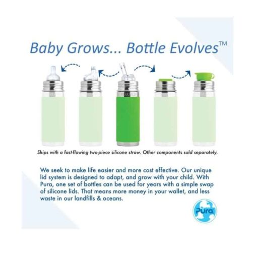 Buy Pura Kiki Vacuum Insulated Straw Bottle - 9oz online with Free Shipping at Baby Amore India, Babyamore.in