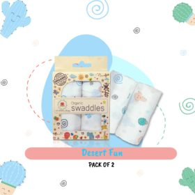Buy Muslin Cotton Swaddles (Pack of 2) - Desert Fun online with Free Shipping at Baby Amore India, Babyamore.in