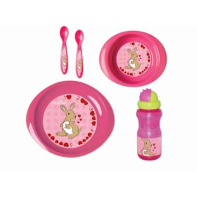 Buy Nuvita Weaning Set with Trainer Cup for 12m+, Pink online with Free Shipping at Baby Amore India, Babyamore.in