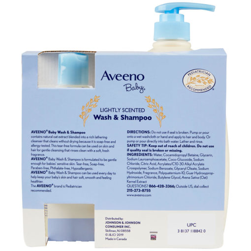 Buy Aveeno Baby Wash & Shampoo, Combo Pack, 976ml & 354ml online with Free Shipping at Baby Amore India, Babyamore.in