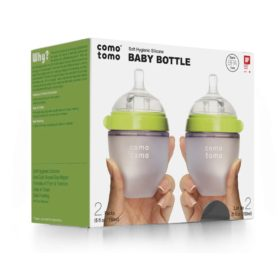Buy Comotomo Natural Feel Baby Bottle, Pink, Double Pack, 150ml online with Free Shipping at Baby Amore India, Babyamore.in