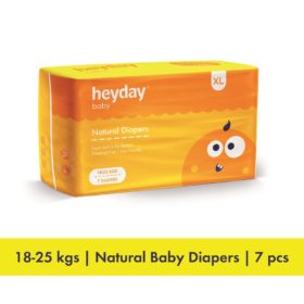 Buy Heyday Natural & Organic Small  Baby Diapers, Upto 8 kg online with Free Shipping at Baby Amore India, Babyamore.in