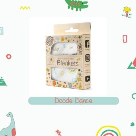 Buy Organic Muslin Cotton Blanket - Doodle Dance online with Free Shipping at Baby Amore India, Babyamore.in