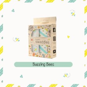 Buy Muslin Cotton Swaddles (Pack of 2) - Buzzing Bees online with Free Shipping at Baby Amore India, Babyamore.in