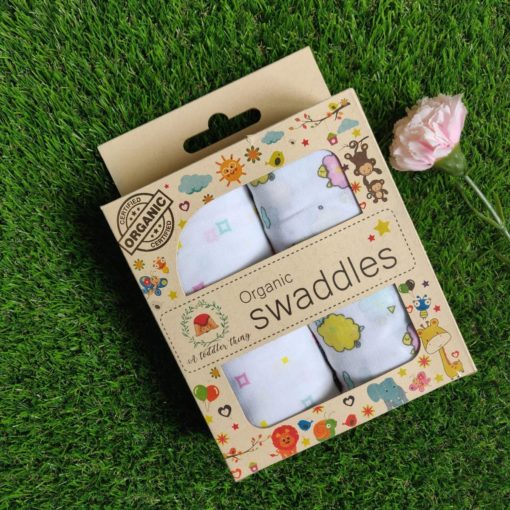 Buy Muslin Cotton Swaddles (Pack of 2) - Baba Yellow Sheep online with Free Shipping at Baby Amore India, Babyamore.in