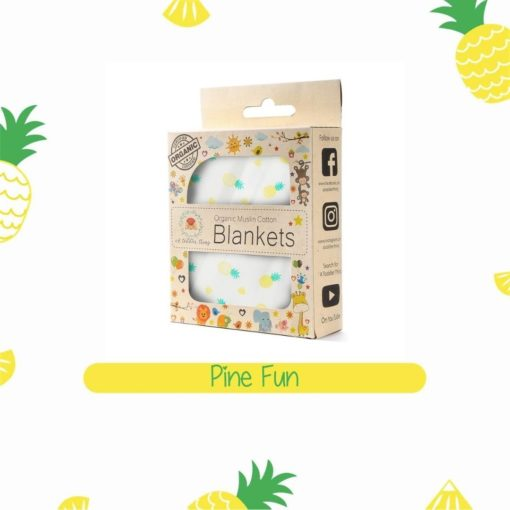 Buy Organic Muslin Cotton Blanket - Pinefun online with Free Shipping at Baby Amore India, Babyamore.in