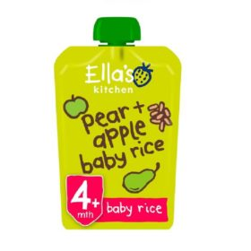 Buy Ella's Kitchen Pear and Apple Baby Rice - 120g online with Free Shipping at Baby Amore India, Babyamore.in