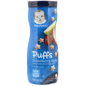 Buy Gerber Cereal Puffs Strawberry Apple - 42g online with Free Shipping at Baby Amore India, Babyamore.in