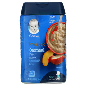 Buy Gerber Probiotic Oatmeal Peach Apple Cereal - 227g online with Free Shipping at Baby Amore India, Babyamore.in