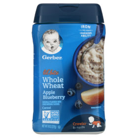 Buy Gerber Lil' Whole Wheat Apple Blueberry Cereal - 227g online with Free Shipping at Baby Amore India, Babyamore.in