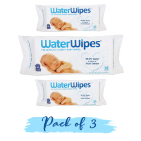Buy Water Wipes, 60 Wipes, Pack of 2 online with Free Shipping at Baby Amore India, Babyamore.in
