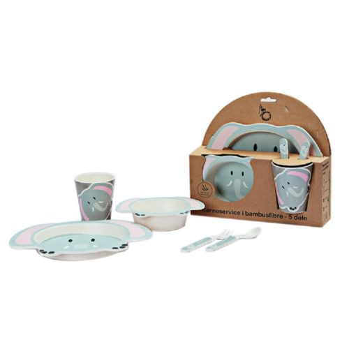Buy Bamboo Fibre Eco Friendly Elephant Dinnerware Set online with Free Shipping at Baby Amore India, Babyamore.in