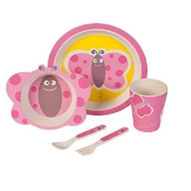 Buy Bamboo Fibre Eco Friendly Butterfly Dinnerware Set online with Free Shipping at Baby Amore India, Babyamore.in