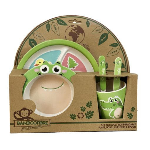 Buy Bamboo Fibre Eco Friendly Crocodile Dinnerware Set online with Free Shipping at Baby Amore India, Babyamore.in