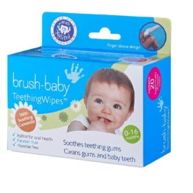 Buy Brush-Baby Teething Wipes with Chamomile, 0-16 months, Single Box of 20 Sachets - White online with Free Shipping at Baby Amore India, Babyamore.in