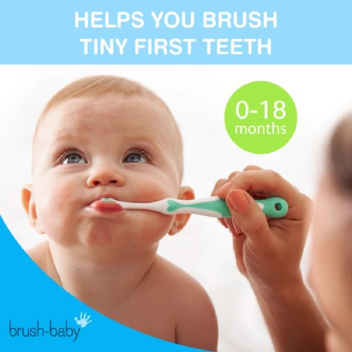 Buy Brush-Baby My FirstBrush & Teether Set, 0-18 months - Blue & White online with Free Shipping at Baby Amore India, Babyamore.in