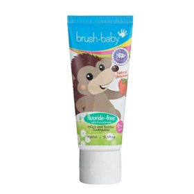 Buy Brush-Baby Fluoride-Free Strawberry Infant and Toddler Toothpaste with Xylitol, 0-2 Years online with Free Shipping at Baby Amore India, Babyamore.in