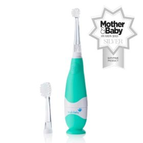 Buy Brush-Baby BabySonic Electric Toothbrush, 0-3 years - Teal & White online with Free Shipping at Baby Amore India, Babyamore.in