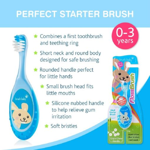 Buy Brush-Baby FlossBrush, 0-3 Years online with Free Shipping at Baby Amore India, Babyamore.in