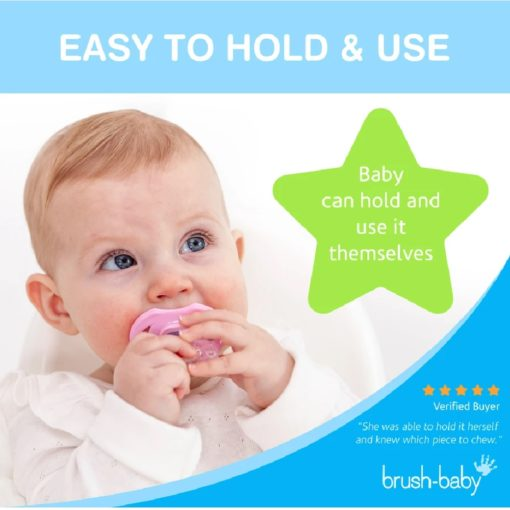 Buy Brush-Baby FrontEase Teether, 3+ months - Blue online with Free Shipping at Baby Amore India, Babyamore.in