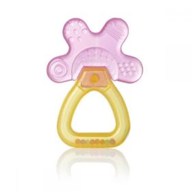Buy Brush-Baby Cool&Calm Rattle Teether, 4+ months - Pink & Orange online with Free Shipping at Baby Amore India, Babyamore.in