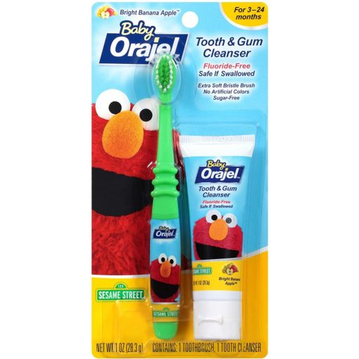 Buy Orajel Baby  Elmo Tooth & Gum Cleanser with Toothbrush online with Free Shipping at Baby Amore India, Babyamore.in