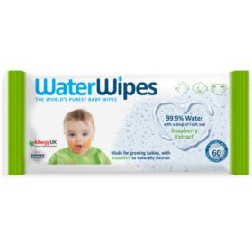 Buy Water Wipes with Soapberry Extract, 60 Wipes online with Free Shipping at Baby Amore India, Babyamore.in