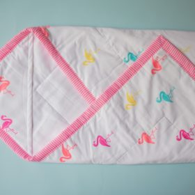 Buy BeeLittle Organic Cotton Wrap Beds - Bingo Flamingo online with Free Shipping at Baby Amore India, Babyamore.in