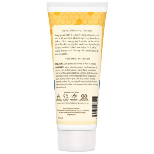 Buy Burt's Bees Baby Ultra Gentle Lotion for Baby's Sensitive Skin, 6oz/170g online with Free Shipping at Baby Amore India, Babyamore.in