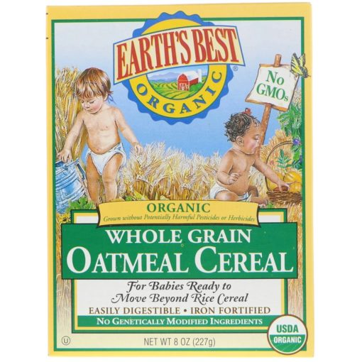 Earth's Best, Organic Whole Grain Oatmeal Cereal, 227g 023923900172
