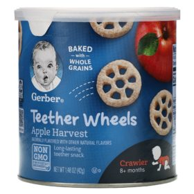 Buy Gerber Teether Wheels, 8+ Months, Apple Harvest - 42g online with Free Shipping at Baby Amore India, Babyamore.in