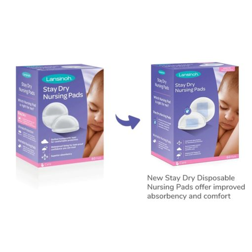 Buy Lansinoh Stay Dry Disposable Nursing Pads (Pack of 60) online with Free Shipping at Baby Amore India, Babyamore.in