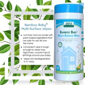 Buy Aleva Naturals Bamboo Baby Multi Surface Wipes, 60 Counts online with Free Shipping at Baby Amore India, Babyamore.in